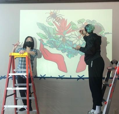 CG seniors mural