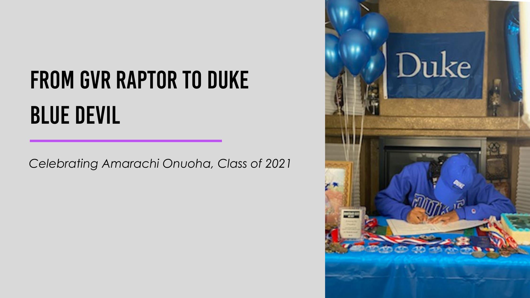 From GVR Raptor to Duke Blue Devil (1)